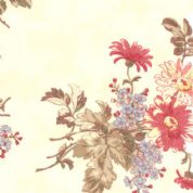 Moda Lario - 2530 - Large Floral Print on Ivory Background - 100% Cotton Fabric